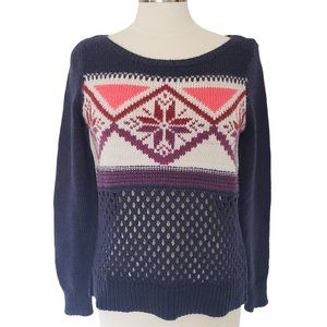 American Eagle Outfitters Winter Wool Snowflake Sweater